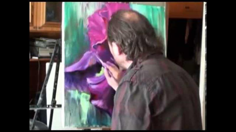 Пишем цветы Ирис Уроки живописи Игоря Сахарова