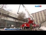 Вести.Ru: Пожар на мебельном складе в Королеве тушат больше 17 часов