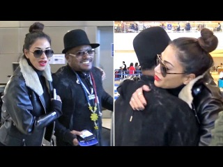 Nicole Scherzinger Gives Apl.de.ap A Big Hug, Dodges French Montana Dating Questions At LAX