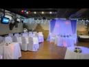Оформление свадьбы в кафе Лисья нора в бело синем цвете