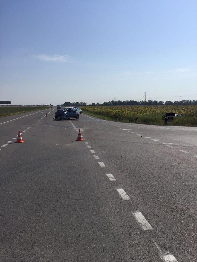 На трассе «Ростов-Таганрог» столкнулись Daewoo Matiz и Nissan Almera, четверо пострадавших, среди них ребенок