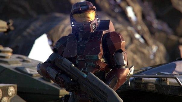 Скриншот титульного экрана беты Halo Wars 2