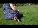 Upskirt in Nylons Stockings at the park