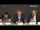 Сильнейшие российские бойцы UFC провели конференцию для представителей СМИ и дагестанской молодёжи.