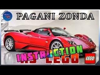 Pagani Zonda How to build from Lego instruction Пагани Зонда Как собрать Лего самоделка Инструкция