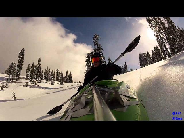 Snow Kayaking - Bombing Kayaks Down Ski Slopes