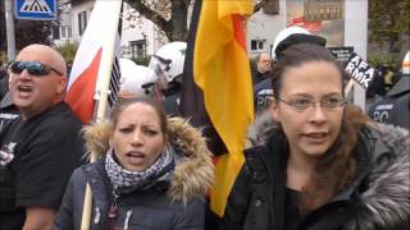 Antifa * Terror bei Spaziergang für mehr Demokratie und gegen Gewalt in Fellbach bei Stuttgart