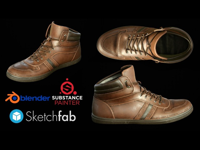 Texturing Leather shoes in Substance Painter 2