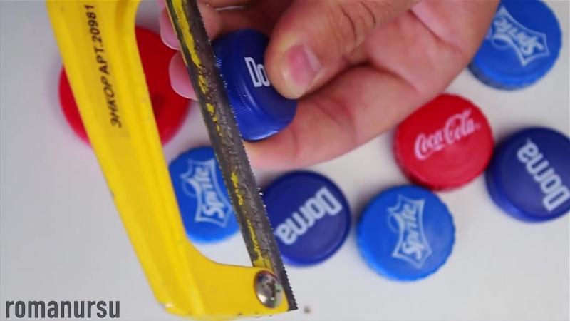 3 Идеи из крышек от пластиковых бутылок 3 ideas with plastic bottle caps смотреть онлайн без регистрации