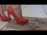 Amber - goldfish crush teen model, red high heels