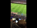 Reaction on the goal Sergi Roberto from inside the cabins commentators