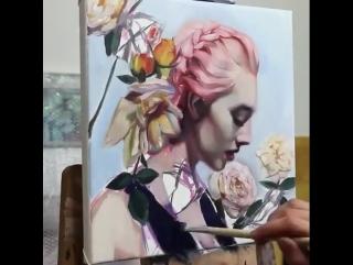 Рисунок талантливой художницы. 🎨