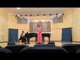 С. С. Прокофьев, Пять песен без слов, номер 2, исполняет Ильина Юлия, аккомпанемент Ольга Гаврилова
