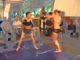 Karine vs Annie kickboxing KO
