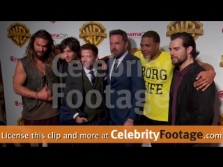 Ben Affleck and the Justice League cast at the Warner Bros. CinemaCon Presentation 2017