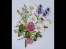 Вышивка лентами полевых трав и цветов Embroidery field flowers and herbs 刺绣领域的花卉和草药 Alsu Galimova