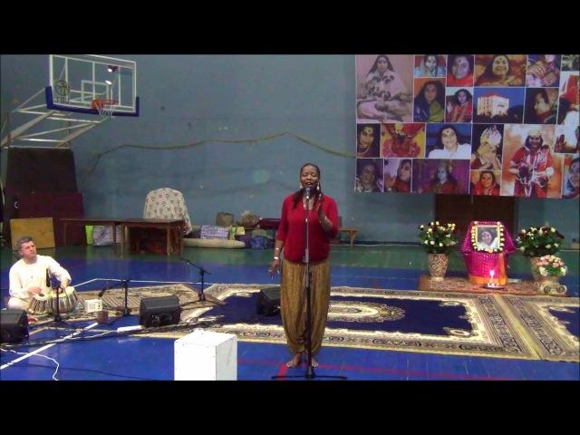 01 Nirmala Ma - Sings Rachelle Jeanty and Ukrainian Sahaja Yogis Seminar Shri Hanumana in Ukraine
