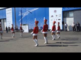 Ансамбль барабанщиц на праздник в Москве № 2. Мажоретки и барабанщицы в Москве.