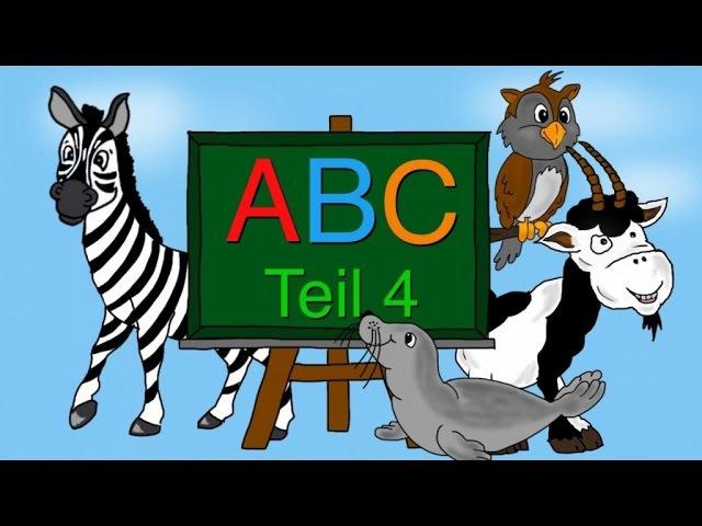 ABC Lied - Buchstaben lernen von S-Z - Alphabet - Kinderlieder deutsch - Phonics song