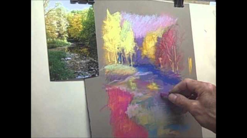 Графика пастелью. Пейзаж в стиле импрессионистов