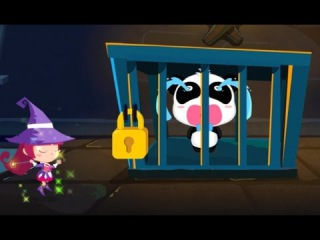 Baby Bus The Magician's Universe - Rescue little Panda, Educational Adventure game for kids