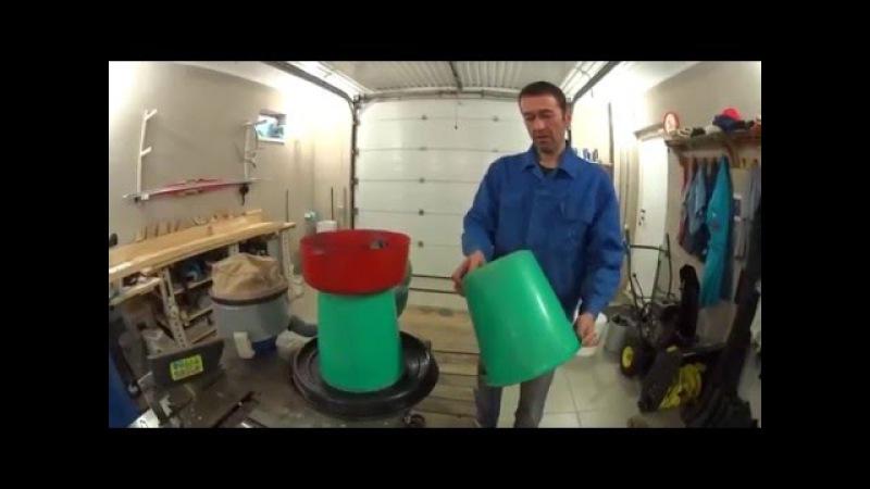 Как быстро собрать простой и надежный циклонный пылесос - стружкоотсос своими р ...