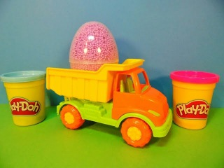 Truck with surprises! Play-doh My little pony,Frozen Disney,Monster High Toys Surprise Eggs unboxing