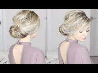 EASIEST Updo ever! Super simple & perfect for long, medium & shoulder length hair