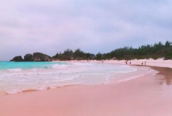 Один из самых красивых пляжей мира: Pink Sands Beach, остров Харбор, Б