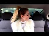 Девушка круто читает рэп в машине (авторская by OLISHA),красивая девушка классно читает реп,классно спела,талант,поёмвсети