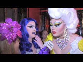 Kim Chi & Laila McQueen with Damiana at the