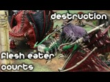 Age of Sigmar 1500 Matched Play - Flesh Eater Courts vs Destruction