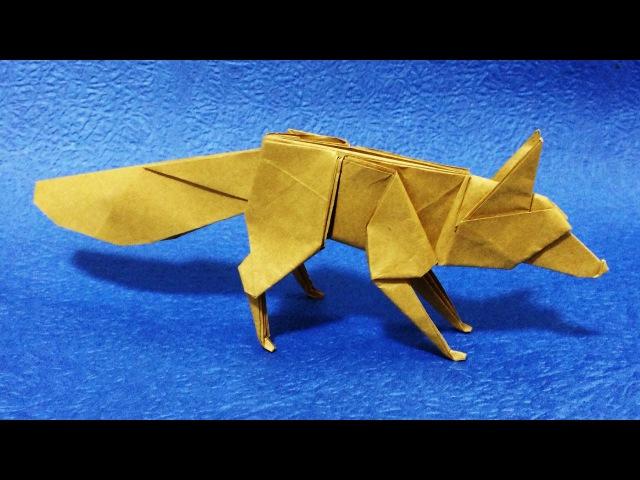 【折り紙】 キツネ 【折り方】 origami fox tutorial