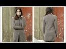 Вязаное пальто спицами для начинающих