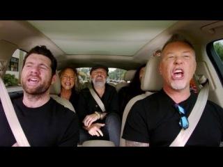 Metallica canta Diamonds de Rihanna | Metallica sings Rihanna's Diamonds in Carpool Karaoke