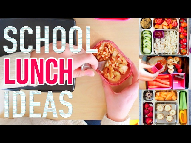 Healthy School Lunch Ideas! 3 Meals 6 Snacks More! HIGH SCHOOL TESTED!