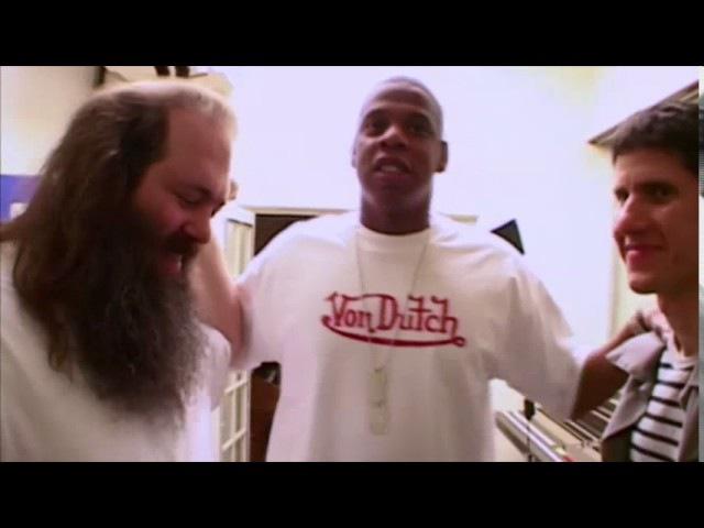 Jay Z at studio making The Black Album