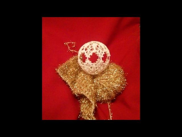 Вяжем крючком ***Новогодний шар*** (1)_Crochet Christmas ball