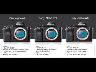 Какой фотоаппарат Sony выбрать? Sony A7, A7S, A7R