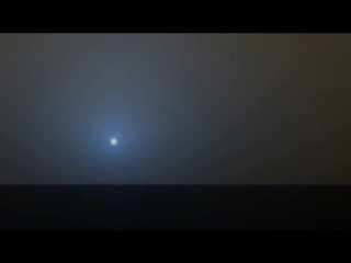 Закат на Марсе голубого цвета