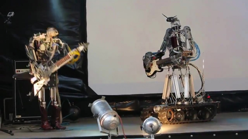 ОЧЕНЬ КРУТО: Роботы рокеры