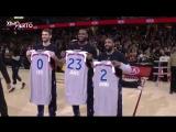 LeBron, Kyrie  Kevin Love Recieve their 2017 NBA All-Star Jersey ¦ Feb 11, 2017 ¦ 2017 NBA Season