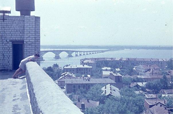 1970-е. Вид с крыши дома по улице Валовая