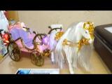 Скачущая лошадка со светящейся каретой.