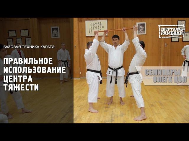 Каратэ Шотокан Уроки Олега Цоя Правильное использование центра тяжести