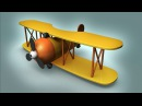 Cartoon Airplane 3d modeling and Materials Basics tutorial