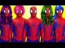 ХИМИЧЕСКИЙ ВЗРЫВА против замороженном Эльзы ш Человек паук и Девушка паук