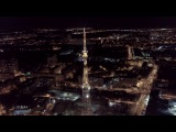 Ночной футаж в районе площади Лядова. Аэросъека Нижний Новгород