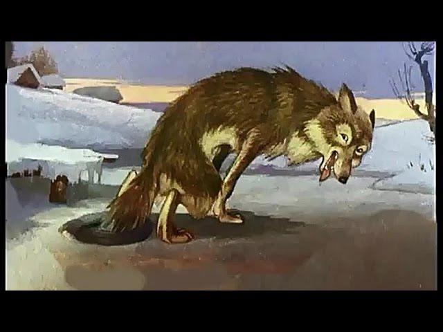 █ Сказка Дедушка хитрая Лиса и Волк озвученный диафильм сказка и мультфильм