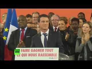 Премьер-министр Франции Вальс ушел в отставку для участия в президентских выбор...